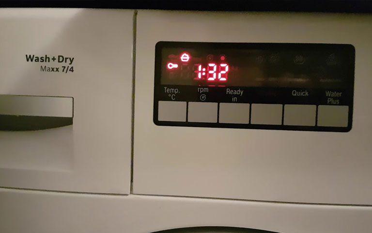 معنای دکمه های روی ماشین لباسشویی ال جی