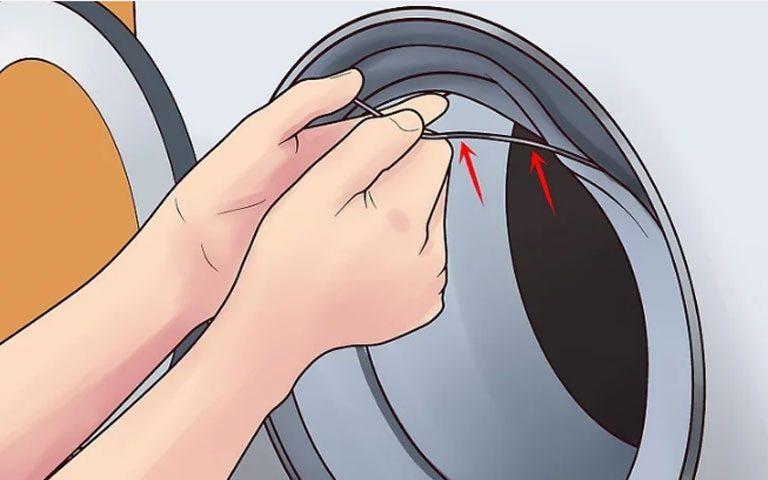 جدا کردن لاستیک دور درب ماشین لباسشویی